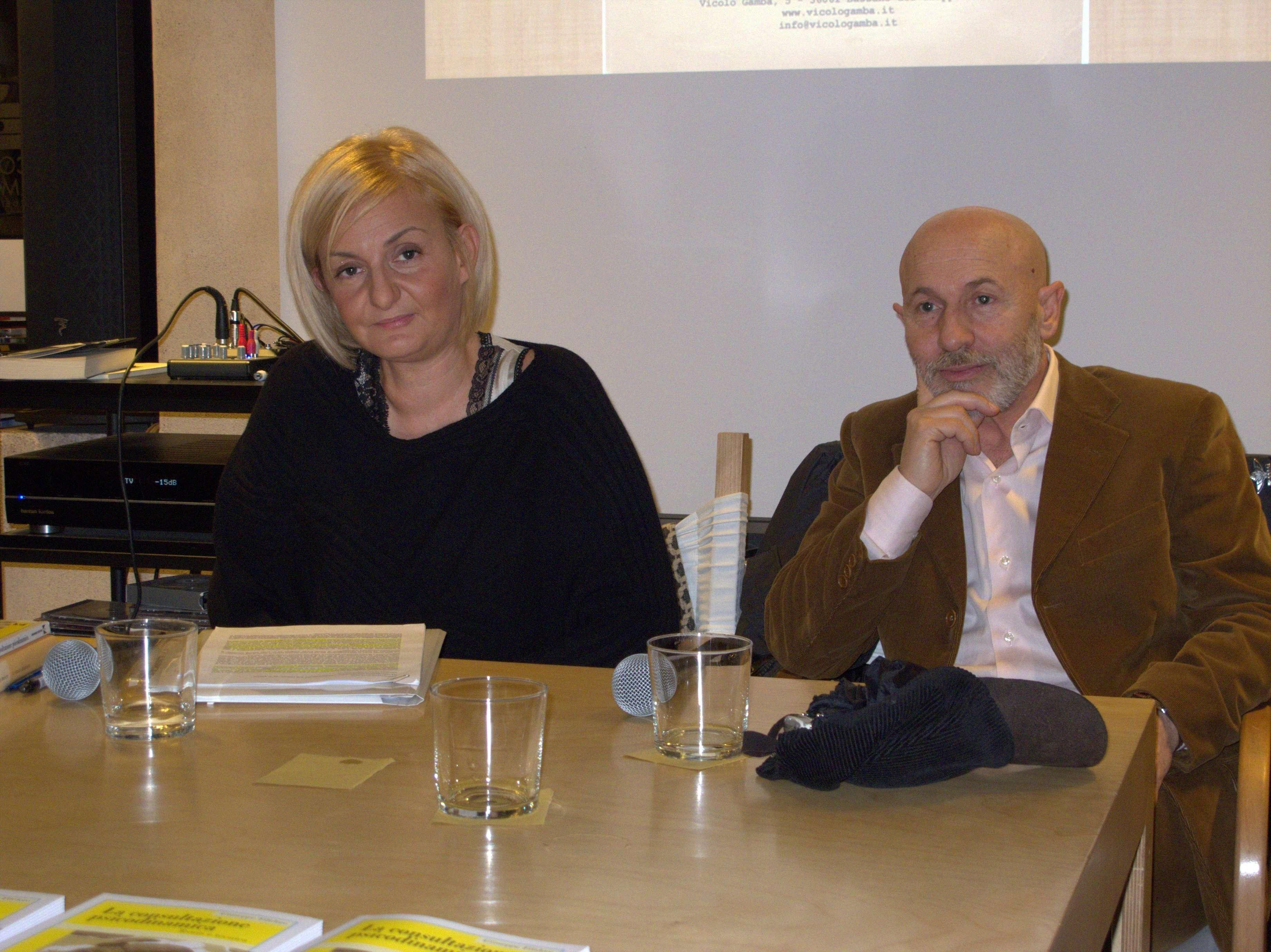 Dott. Giuseppe Filidoro e Dott.ssa Sabina Scattola alla presentazione del libro LA CONSILTAZIONE PSICODINAMICA